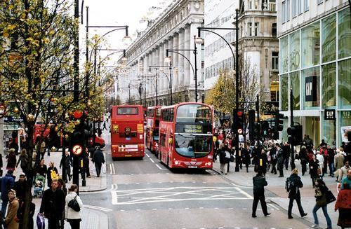 Oxford Street in London City Photo