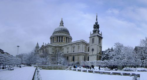 St Pauls Cathedral in London England Winter 5K Wallpapers