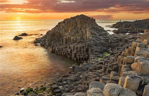 Tourist Attraction Giants Causeway in UK