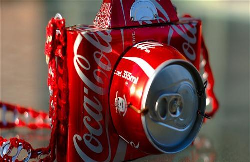 CocaCola Camera Creative Wallpaper