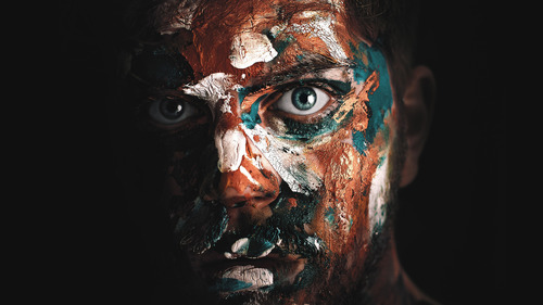 Paint on Man Face Creative Image