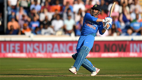 MS Dhoni Batting in Cricket World Cup 2019 4K Photos