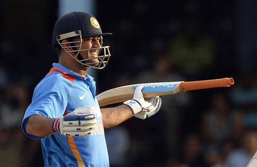 MS Dhoni Indian Captain Smilie in Ground Worldcup 2015 Cricket Images