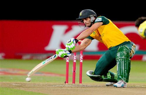 Worldcup 2015 South African Cricketer Faf du Plessis on Ground Batsman Photos