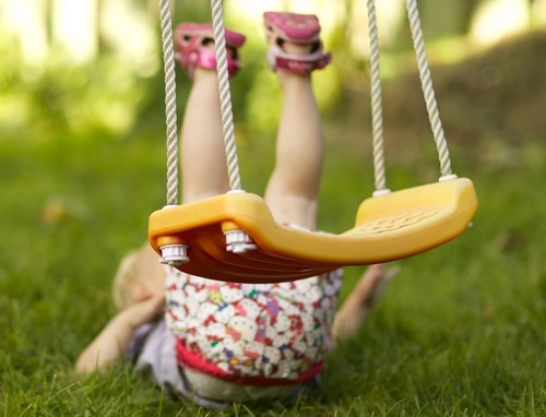 Child Fall From Swing Wallpaper
