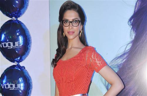Actress Deepika Padukone in Orange Dress and Goggles HD Wallpapers