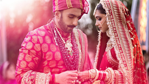 Marriage Ceremony Image of Ranveer Singh with Deepika Padukone