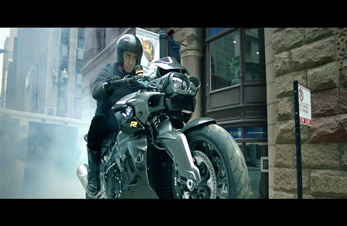 Aamir Khan on BMW Bike in Dhoom 3 Bollywood Movie
