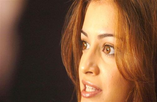 Angry Face of Dia Mirza