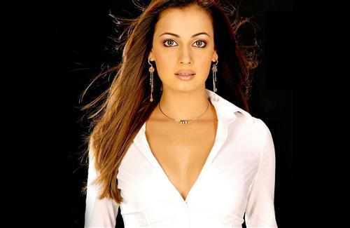 Hot Dia Mirza in White Shirt