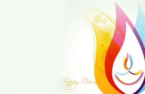 Beautiful Happy Diwali Greetings Card Wallpaper Free Download