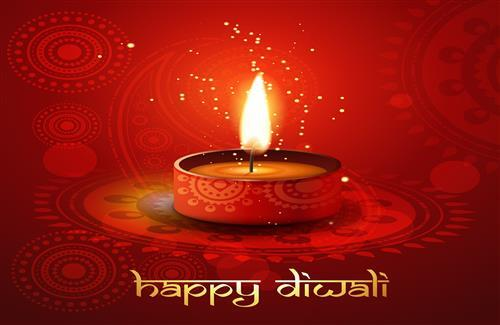 Beautiful Happy Diwali Greetings Wallpaper