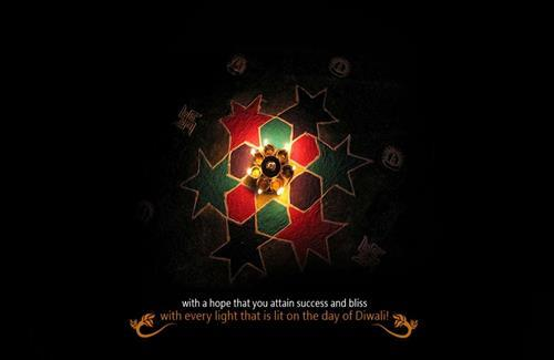 Beautiful Happy Diwali Greetings Widescreen Wallpapers