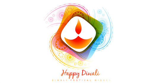 Happy Diwali Colorful Background Photo