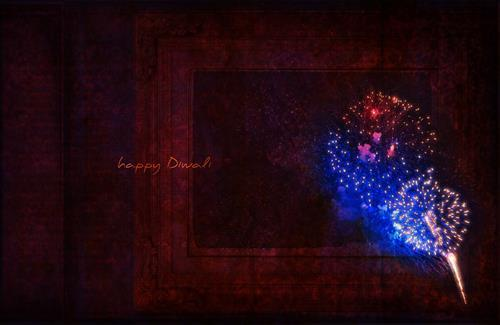 Happy Diwali Wallpaper with Black Background
