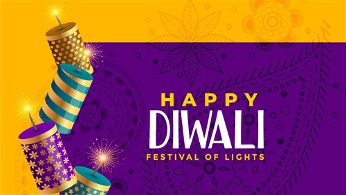 Happy Diwali with Background Design 4K Wallpaper