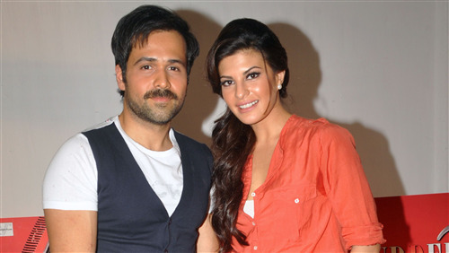 Indian Movie Star Jacqueline Fernandez with Emraan Hashmi