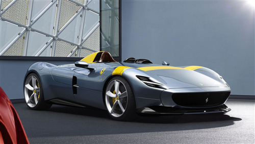 4K Wallpaper of Ferrari Monza SP1 Car