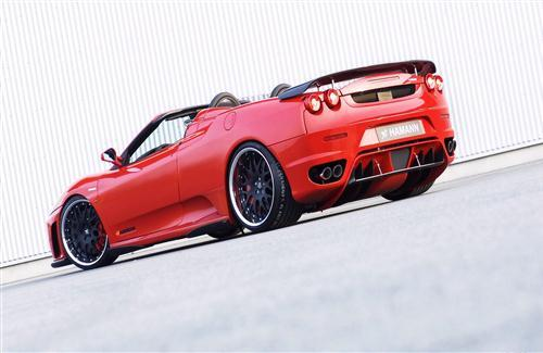 Hamann Red Convertible Red Ferrari Wallpaper