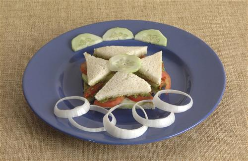 Best Vegetable Sandwich with Onion Decoration Photos