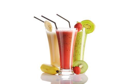 Three Drinks Glass of Banana Smoothie Free Images Download