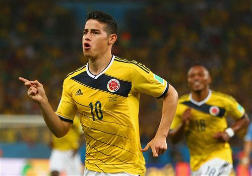 Colombian Footballer James Rodriguez in FIFA World Cup 2018 HD Wallpaper