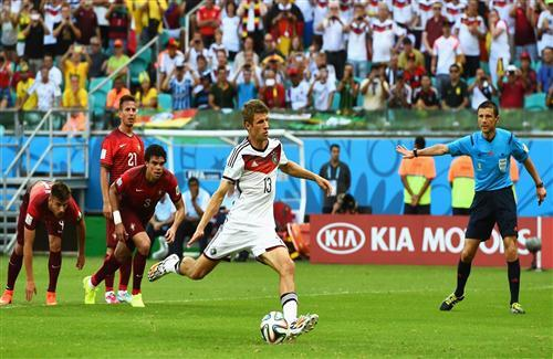 Germany Player Thomas Muller Penalty FIFA World Cup 2014 Wallpaper