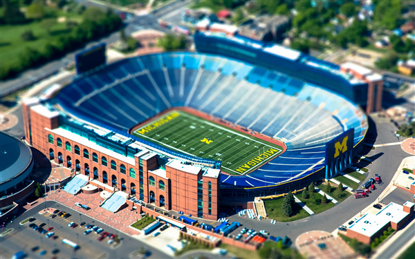Spartan Football Stadium in Michigan State University US Wallpaper