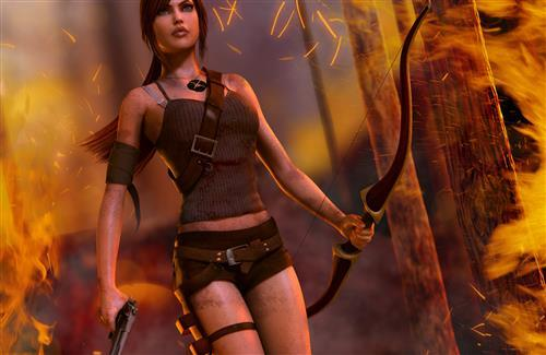 Lara Croft Tomb Raider Game Wallpapers