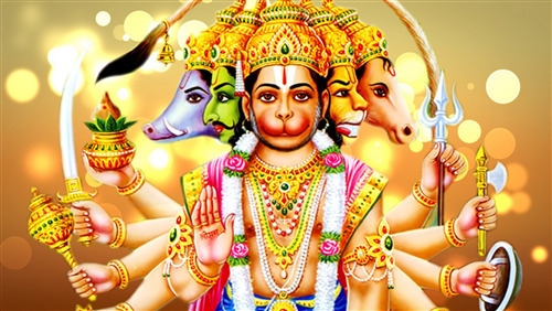 Download Wallpaper of Panchmukhi God Hanuman