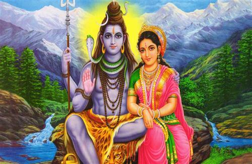 God Shiv Shankar with Parvati