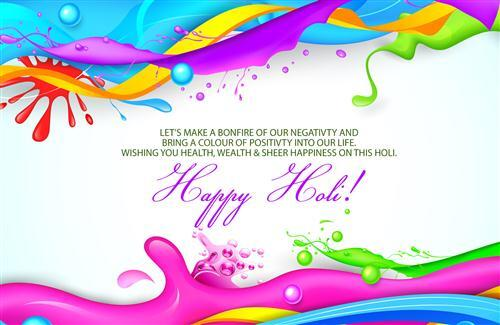 Colorful Happy Holi Grerting Wallpaper