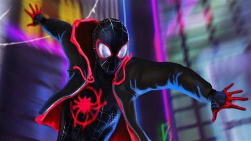 4K Photo Of Spider Man Into The Spider Verse 2018 Movie
