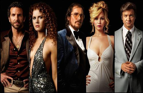 American Hustle Hollywood 2014 Movie Star Cast Wallpapers