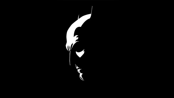 Batman Black and White Background Wallpaper