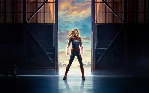 Brie Larson In Captain Marvel Movie 4K Wallpaper