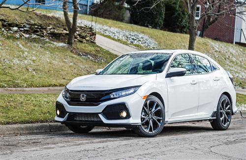 2018 Honda Civic White Car