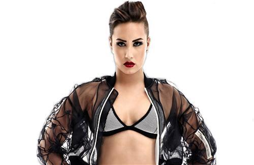 Celebrity Demi Lovato in Red Lips Wallpaper