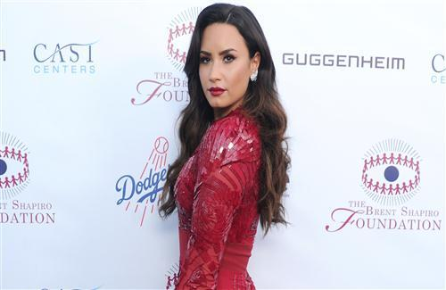 Demi Lovato in Red Dress HD Photo