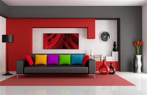 Amazing Home Interior wih Colorful Pillow