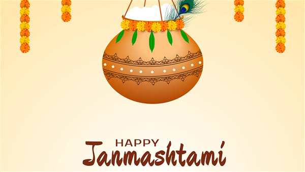 Happy Janmashtami 4K Photo