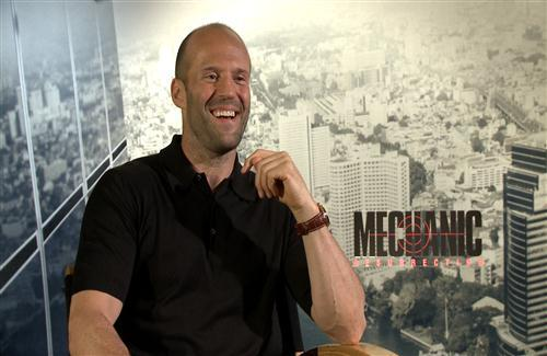Jason Statham During TV Interview