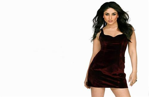 Cute Bollywood Actress Kareena Kapoor in Maroon