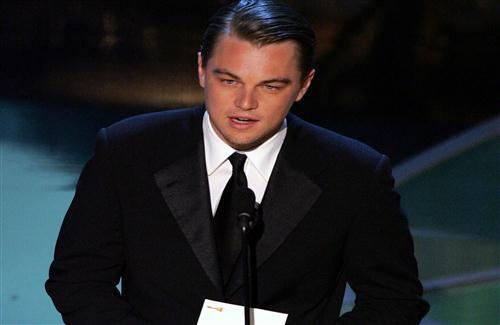 Actor Leonardo DiCaprio in Black Suite HD Wallpaper