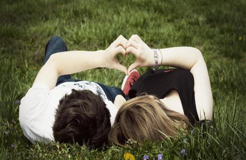 Couple Doing Romance in Garden Love HD Image