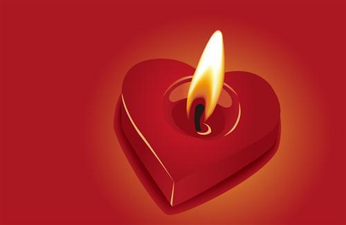 Lamp in Red Heart