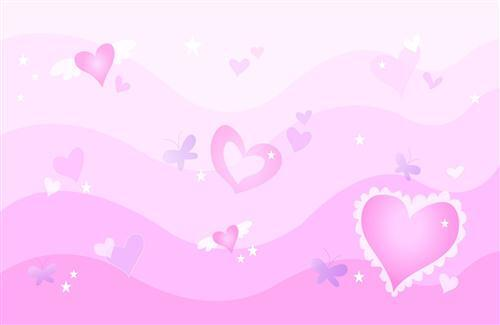 Pink Heart with Waves
