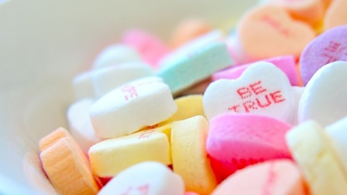 Valentines Day Be True Love in Colorful Candy