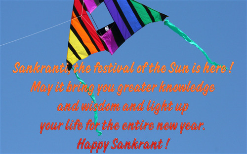 Happy Makar Sankranti Greeting Quote Image