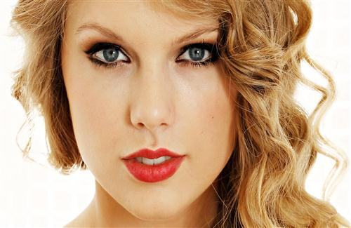 Beautiful Taylor Swift American Singer Red Lips HD Photo